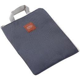 Discount chain handles for bags - Laptop Briefcase Laptop Handbag Bag Multi Function For File Document Office Briefcases Makeup Bag Canvas Simple Men Wome
