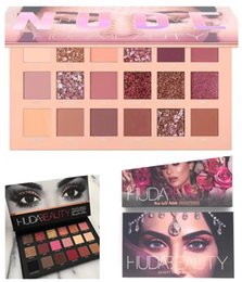 huda beauty makeup 2019 - Huda beauty 18 Colors Eyeshadow Palette NUDE Rose Gold Textured Palette Makeup Eye shadow Beauty Palette Matte Shimmer s