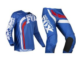 $enCountryForm.capitalKeyWord NZ - Free Shipping 2019 NAUGHTY FOX MX 180 Cota Blue Jersey & Pant Combo Motocross Racing Racewear Dirt Bike Off Road Riding Gear Set