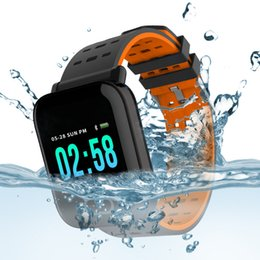 Touch Screen Water Resistant Australia - A6 Fitness Tracker Wristband Smart Watch Color Touch Screen Water Resistant Smartwatch Phone with Heart Rate Monitor pk fitbit id115