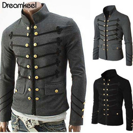 Victorian Coats Australia - Coat Solid Middle Ages Male Carnival Clothing 2019 Man Purim Victorian Gothic Style Jacket Zipper Christian Medieval Knight Y