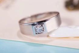 $enCountryForm.capitalKeyWord NZ - White 9K,14K,18K Gold 0.5Ct D F Color VVS Simple And Elegant Moissanite Diamond Rings For Men Singgle Stone Setting With Certificate