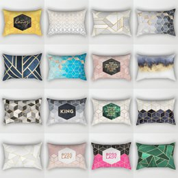 Lady cover case online shopping - King Boss Lady Pillow Case Square Polyester Peach Skin Pillow Covers Blue Gray Car Office Sofa Pillow Cover mdbD1