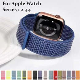 $enCountryForm.capitalKeyWord NZ - For Apple Watch Nylon strap Sport Loop 39 Colors Adjustable Breathable Smart WatchBand 42mm 38mm 44mm 40mm For iWatch 4 3 2 1