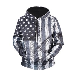 $enCountryForm.capitalKeyWord Australia - Digital printed retro American flag sweater Round neck loose XXL hip hop big size hoodie