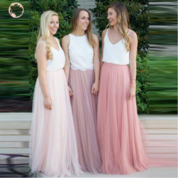 Long denim skirts pLus size online shopping - 3 Women Skirt Layers Lace Tulle Long Maxi Skirt Bridesmaid Skirts Plus Size Womens Skirts Hot Sale