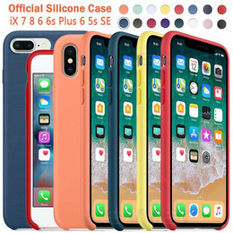 $enCountryForm.capitalKeyWord Australia - Wholesale Original Have LOGO Silicone Case For iPhone 7 8 Plus Phone Silicon Cover For iphone X 6S 6 Plus For Apple Retail Package Box