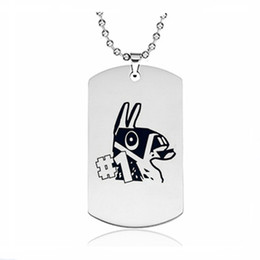 Kids toy fans online shopping - Fortnight Necklace Dog Tag Shape Party Supplies Hot Game Fans Souvenir Kids Gift Birthday Party Favor Children Toy Jewelry