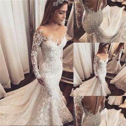 Strapless Full Skirted Wedding Dress NZ - Fashion Designer Mermaid Wedding Dresses 2019 Sexy Strapless Full Lace Applique Bridal Gowns Backless Sweep Train Dresses