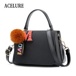 $enCountryForm.capitalKeyWord Australia - Acelure Small Crossbody Bags For Female Fur Ball Hanging Casual Women Shoulder Bags Simple Style Ladies Handbags Bolsa Feminina Q190428