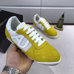 $enCountryForm.capitalKeyWord Australia - 2019 Italy famous fashion Lace-Up Genuine Leather breathable Trend casual shoes with sneakers trend mens outdoor Mens casual Shoes EUR 38-45