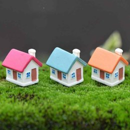 zakka candy UK - Candy House Multiwindows with Doors DIY Material House Model Resin Handicraft Moss Terrarium Micro Landscape Fairy Garden Bonsai DIY Zakka