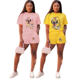 $enCountryForm.capitalKeyWord Australia - Women Summer outfits t shirt shorts two piece set hoodie T-shirt womens clothing short trousers fashion sport suit klw1419
