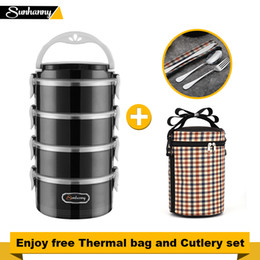 $enCountryForm.capitalKeyWord Australia - Sunhanny Thermal Lunch Box Food Container Bento Box Stainless Steel Lunchbox For Kids School With Thermal Bag And Cutlery Set Y19070303