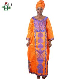 EmbroidEry african clothEs online shopping - africa clothing embroidery bazin dress women african women clothes cotton long dress robe africain femme
