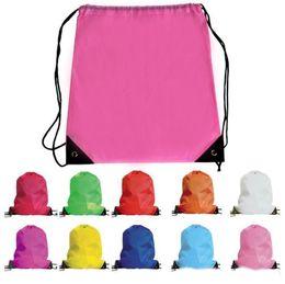 Wholesale Frozen Clothing Australia - kids' clothes shoes bag School Drawstring Frozen Sport Gym PE Dance Backpacks