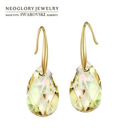 $enCountryForm.capitalKeyWord UK - rystal long earrings Neoglory Austria Crystal Long Drop Earrings Exquisite Water Drop Style Light Yellow Gold Color Classic Wholesale Tre...