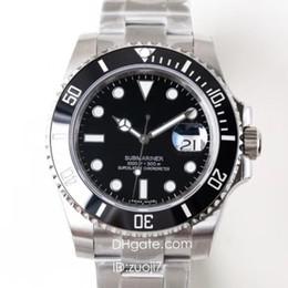 N Alta Buality Fábrica V7 Relógio De Luxo Dos Homens Eta Automático 2836 Relógios 116610LN Sapphire Dive Relógios DHL Frete Grátis relógio de Pulso venda por atacado