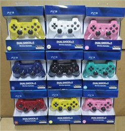 Free dhl video game online shopping - High quality Controllers Wireless Controller Game Controllers Double Shock for PS3 portable video game palyer Game Console DHL FREE SHPPING