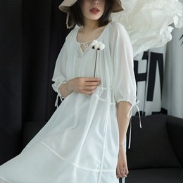 2137686f6a8 Fresh Fairy Skirt Chiffon Dress Tied with Seven Sleeved Skirts 2019 Summer    MD039055-02