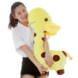 Giraffes Toys For Children Australia - lovely soft animal giraffe plush doll big cartoon deer toy pillow for children gift 28inch 70cm