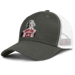 Hat Bulls Australia - Popular Mesh Baseball caps Men Women-Marilyn Monroe 23 bulls designer hats snapback Adjustable Sun hat Outdoor