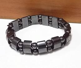 $enCountryForm.capitalKeyWord Australia - DHL Black Magnetic Therapy Bracelet Hematite Bracelet for Men Women Natural Stone Charm Fashion Accessorices Healthy Bracelets Jewelry