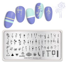 $enCountryForm.capitalKeyWord Australia - BORN PRETTY Nail Stamping Plates Stainless Steel Mixed Flower Nail Art Image Stencil Fashion Power Theme Nails Design