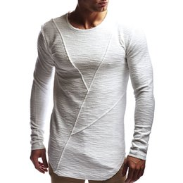 Wholesale Stretch T Shirts Men Australia - New Spring Casual Men tshirt Long Sleeve Autumn Mens t shirt Brand Clothes Stretch Pullover Male Tops Tees T-Shirt