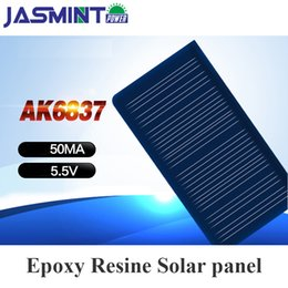 Solar Panel Systems Wholesalers Australia - Portable Solar Charger Panels China 68*37mm 5.5V 50mA Sun Solar Panel System DIY For USB Chargeur Solaire Battery