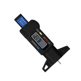 Wholesale tire wear online – design High Precision Digital Tread Depth Gauge Car Tire Wear Detection Electronic Vernier Caliper Car Measurer Tool