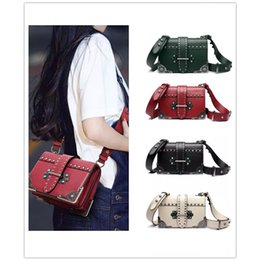 $enCountryForm.capitalKeyWord NZ - Cross Body Fashion Rivet Chain Bag Single Shoulder PU Leather Side Purse Messenger Bag Hand bag for Women and Girls