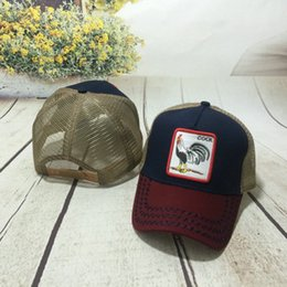 Animal Embroidery Mesh Baseball Caps Casquette Men Women Casual Fitted Baseball  Cap Farm Sun Mesh Trucker Cap CHEAP Wholesale 8b8f27880481
