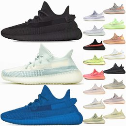 Großhandel Adidas Yeezy Boost 350 V2 Kanye West Antlia Synth Reflektierende Gid Glow Schwarz True Form Clay Static Männer Frauen Laufschuhe Zebra Lundmark Athletics Sneakers 5-13