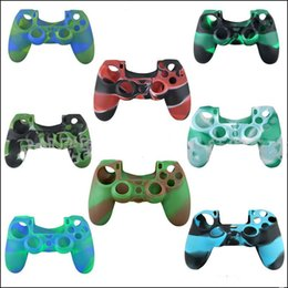 XboX one controller skins online shopping - Colorful Camo Soft Silicone Gel Rubber Case Skin Grip Cover For Xbox One PS4 Wireless Controller STY100
