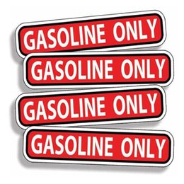$enCountryForm.capitalKeyWord Australia - Fashion gasoline vinyl red applique sticker OEM gas engine fuel car vehicle label security