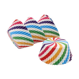 $enCountryForm.capitalKeyWord NZ - ool accessories 100Pcs Rainbow Cupcake wrapper Paper Liners Muffin Cases Cup Cake Topper Baking Tray Kitchen Accessories Pastry Decoratio...