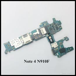 $enCountryForm.capitalKeyWord NZ - Unlocked Original Motherboard 32GB For Samsung Galaxy Note 4 N910F Motherboard Free shipping