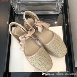 woven straw sandals UK - Vintage ladies straw woven shoes, flat Fisher man sandal with Woven sole designer women canvas espadrille slide suitable for daily use