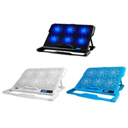 Discount ultrabook laptop 14 - ICE COOREL K6 2 USB Laptop Cooler 6 Cooling Fan Notebook Holder Pad Stand for Ultrabook Game Book 12 13 14 15 15.6""