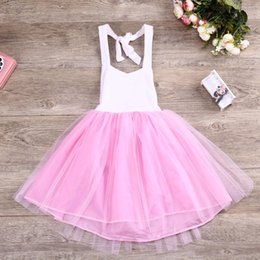 Wholesale Cute Fashion Princess Dress Girls Pink Princess Party Wedding Bridesmaid Dress Children Gift For Girl Photograph