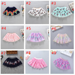 baby girl tutu dresses rainbow NZ - 9 Colors Kids Baby Tutu Sequined Skirt Pettiskirt Ballet Children Colorful Tutu Skirt Girls Rainbow mermaid unicorn ins dress High Quality