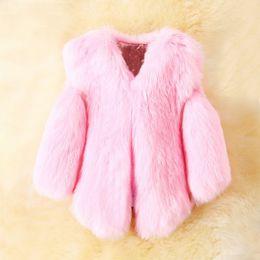 White Faux Fur Shorts Australia - Girls Faux Fox Fur Vest 2019 Brand Winter Warm Kids Fur Vests for Girls Coat Fashion Baby Girl Jacket Children Outerwear 3Colors