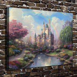 $enCountryForm.capitalKeyWord Australia - Cinderella Castle Scenery,Home Decor HD Printed Modern Art Painting on Canvas (Unframed Framed)