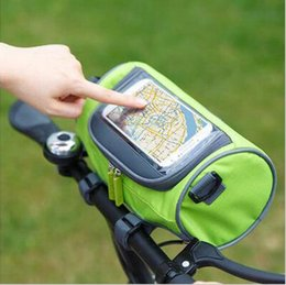 Wholesale New bicycle handlebar front touch screen mobile phone bag mountain bike bike accessories riding bag