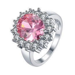 Cheap Red Jewelry Sets NZ - Brand Lady Rings 2018 New Romantic High Quality Platinum Setting Flower 3 Color Zircon Ring for Women Cheap Jewelry R030
