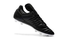 Scarpe da calcio in pelle di qualità migliore 2019 Copa Mundial FG scarpe da calcio da uomo Copa Mundial Soccer Cleats nero all'aperto