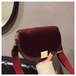 Hasp Saddle Bags Shoulder Wide Strap bags Fashion Totes Shoulder Cross body  Female Bolsa Sacs Saj Huacheng 12 5c7030bf37578
