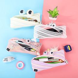 $enCountryForm.capitalKeyWord Australia - New style unicorn pen bag fashion cartoon frog nylon pencil Bags monster zipper stationery bags wholesale