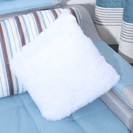 car sofa couch 2019 - Pillow Case Cover Throw Pillow Covers Plush Solid Color Cushion Pillow for Couch Bedroom Sofa Cushion Car Cover cheap ca